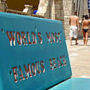 Worlds Most Famous Beach Bench Poster