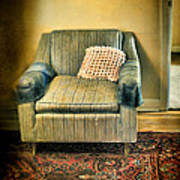 Worn Chair By Doorway Poster