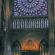 Worship In Notre Dame Poster