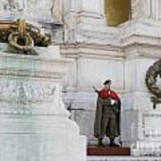 Wreath And Guard At The Tomb Of The Unknown Soldier Poster
