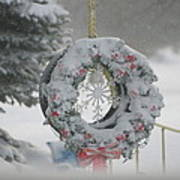 Wreath In A Snow Storm Poster