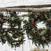 Wreaths For Sale Colonial Williamsburg Poster