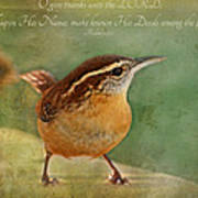 Wren With Verse Poster