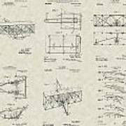 Wright Brothers Aircraft Patent Collection Poster
