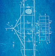 Wright Brothers Flying Machine Patent Art 2 1906 Blueprint Poster