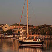 Wrightsville Beach Boat In Harbor Poster