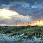 Wrightsville Beach South End Sunset Poster