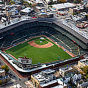 Wrigley Field Chicago Sports 02 Poster by Thomas Woolworth
