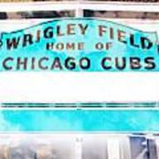 Wrigley Field Sign - X-ray Poster