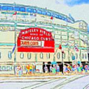 Wrigley Field Sketch Poster