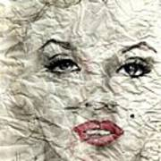 wrinckled Marilyn Poster