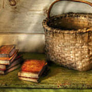 Writer - A Basket And Some Books Poster