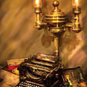 Writer - Remington Typewriter Poster by Mike Savad