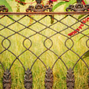 Wrought Iron With Red And Green Poster