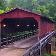 Wv Covered Bridge Poster