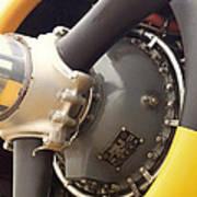 Ww II Airplane Engine Poster
