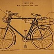 Ww1 Military Bicycle Poster