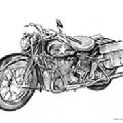 Ww2 Military Motorcycle Poster