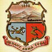 Wyoming Coat Of Arms - 1876 Poster