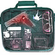 X-ray Of A Briefcase With A Gun Poster