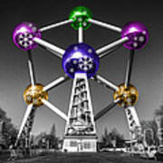 Xmas Atomium  Poster