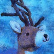 Xmas Reindeer 01 Photo Art Poster