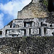 Xunantunich Belize Mayan Temple Close Up Of Frieze Poster