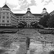 Yacht And Beach Club In Black And White Walt Disney World Poster