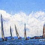 Yacht race on Pittwater Poster