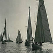 Yachting At Cowes�all They Wan - Is A Breeze Poster