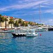 Yachting Harbor Of Hvar Island Poster