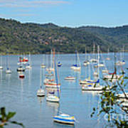 Yachts In A Quiet Estuary Poster