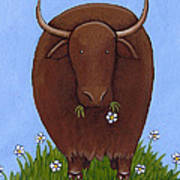 Whimsical Yak Painting Poster