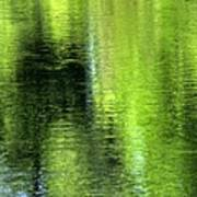 Yamhill River Abstract 24831 Poster