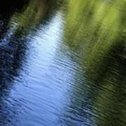 Yamhill River Abstract 24849 Poster