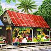 Yangon Fruitstand Poster