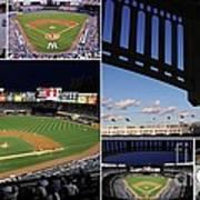 Yankee Stadium Collage Poster by Allen Beatty