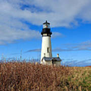Yaquina Bay Lighthouse In Oregon Poster