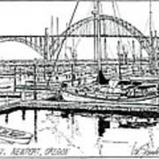Yaquina Bay Newport Oregon Poster