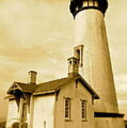 Yaquina Head Gone Sepia Poster by Sheldon Blackwell