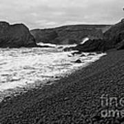 Yaquina Head In Bw Poster