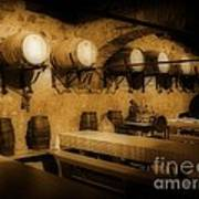 Ye Old Wine Cellar In Tuscany Poster by John Malone