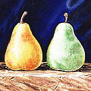 Yellow And Green Pear Poster
