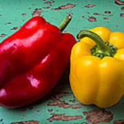 Yellow And Red Bell Pepper Poster