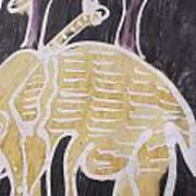 Yellow Brown Elephant In The Bush. Poster