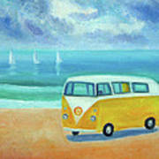 Yellow Camper Poster