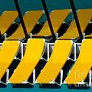 Yellow Chairs Reflected Poster