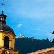 Yellow Church And Monserrate Poster