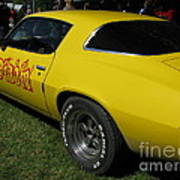 Yellow Classic Car Diablo At The Show Poster