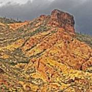 Yellow Colored Rock Along The Apache Trail Poster